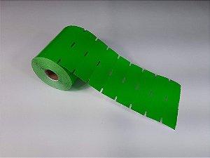 Etiqueta de Gôndola 105x30mm em Couché cartão Verde para Zebra Argox Elgin - Rolo com 1000 (30m)