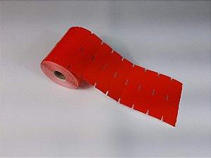Etiqueta de Gôndola 105x30mm em Couché cartão Vermelha para Zebra Argox Elgin - Rolo com 1000 (30m)