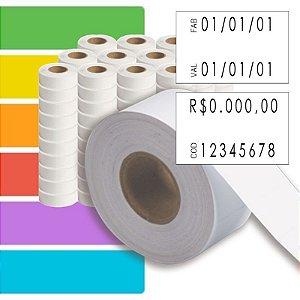 Etiqueta refil Etiquetadora Fixxar MX 2816 (28x16mm) - 120 rolos