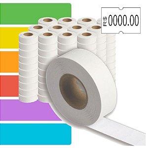 Etiqueta refil Etiquetadora Torres Biônica (18x12mm) - 120 rolos