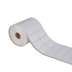 Etiqueta 40x40mm (2 colunas) BOPP adesivo borracha para Zebra Argox Elgin - Rolo com 1395 (30m)