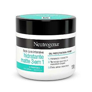 Neutrogena Face Care Intensive Hidratante Matte 3 Em 1