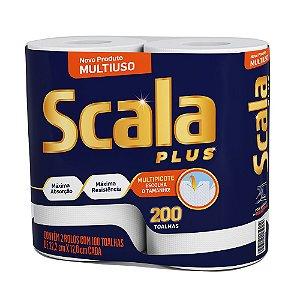 Papel Toalha Scala Plus - Contém 02 Rolos Com 100 Toalhas
