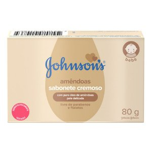 Johnson's Baby Sabonete Infantil Óleo de Amêndoas - 80g