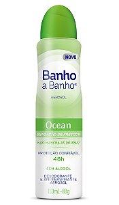 Desodorante Aerosol Banho A Banho Ocean 80g