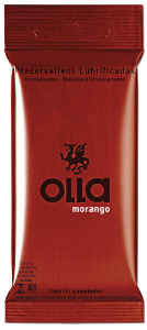 Preservativo Olla Morango - 6 Unidades