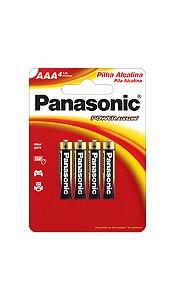 Panasonic Pilha Alcalina Palito AAA - 4 Unidades