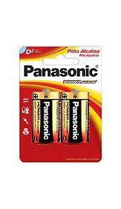 Panasonic Pilha Alcalina Grande D - 2 Unidades