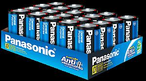 Panasonic Pilha Comum Grande D  - Embalagem Com 20 Unidades