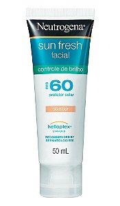 Sun Fresh Facial Controle de Brilho Com Cor - FPS 60 50ml