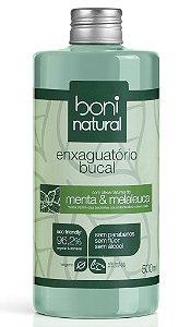 Enxaguante Bucal Menta e Melaleuca de Boni Natural - 500ml