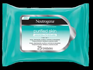Neutrogena Lenço Micelar 7 em 1 Purified Skin com 25 Unidades - Vencimento 27/05/2021