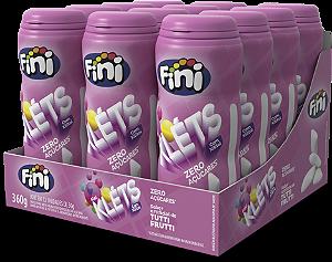 Fini Kléts Tutti Frutti Zero Açúcar  - Caixa Com 12 Unidades