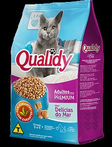 Qualidy Premium Gatos Adultos Sabor Delícias do Mar 500g