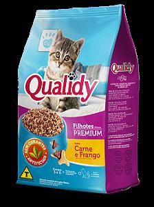 Qualidy Premium Gatos Filhotes Sabor Carne e Frango 500g