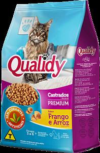 Qualidy Premium Gatos Castrados Adultos Sabor Frango e Arroz 1kg