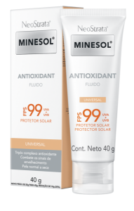 Minesol Protetor solar Neostrata Antioxidante Tinted Universal FPS 99  40g