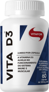 Vitamina D 60 Cápsulas 2.000 UI 500mg Vitafor