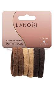 Conjunto de elásticos Lanossi marrom com 6un