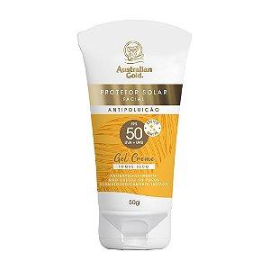 Australian Gold Protetor Solar Facial Gel Creme - FPS 50 50g