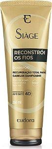 Shampoo Siàge Reconstrói os fios - Para Cabelos Danificados 250ml