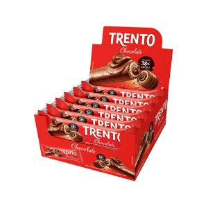 Trento Wafer Chocolate Display Com 16un