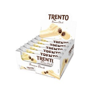 Trento Wafer Chocolate Branco Display Com 16un