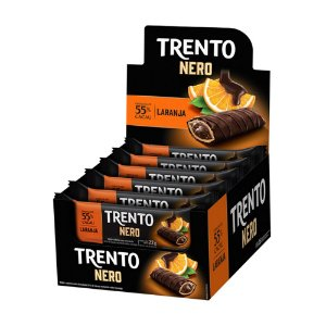 Trento Wafer Nero 55% Cacau Laranja Display Com 16un