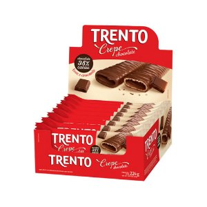 Trento Crepe Chocolate Display Com 16un
