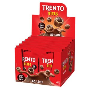 Trento Wafer Bites Ao Leite Display Com 12un