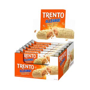 Trento Wafer Allegro Chocolate Branco com Amendoim Display Com 16un
