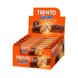 Trento Wafer Allegro Chocolate com Amendoim Display Com 16un
