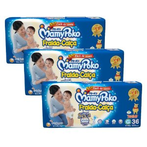 Kit Com 03 Pacotes Fralda MamyPoko Fita Tamanho M