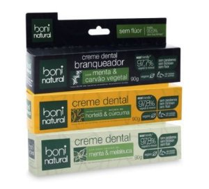 Kit Creme Dental Boni Natural