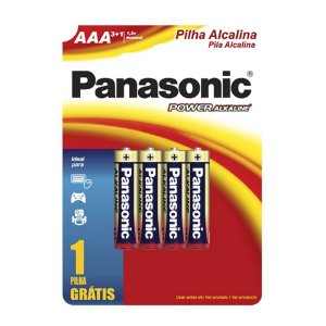 Panasonic Pilha Alcalina Palito AAA - Leve 4 Unidades Pague 3 Unidades