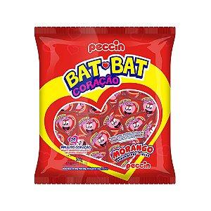 Pirulito Bat Bat Coração Morango Mini 200g