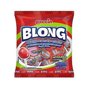 Pirulito Blong Gigante Morango 672g/24un