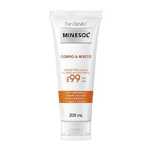 Minesol Neostrata Protetor Solar Corpo E Rosto Fluído Hidratante Antioxidante FPS99 200ml