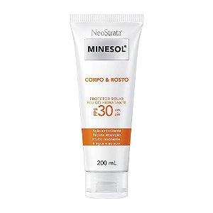 Minesol Neostrata Protetor Solar Corpo E Rosto Fluído Hidratante FP30 200ml