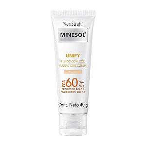Minesol Neostrata Protetor Solar Unify Fluído Com Cor Pele Clara FPS60 40g
