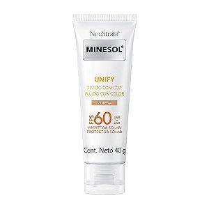 Minesol Neostrata Protetor Solar Unify Fluído Com Cor Pele Morena FPS60 40g