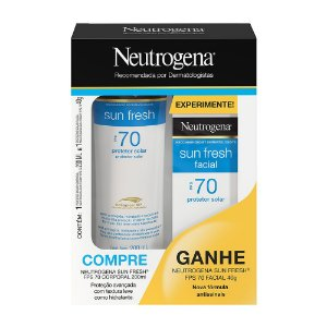 Sun Fresh Corporal FPS70 200ml Ganhe Sun Fresh Facial FPS70 40gr