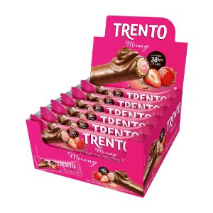 Trento Wafer Morango Display Com 16un