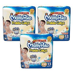 Kit Com 03 Pacotes Fralda-Calça MamyPoko Tamanho XXG – 39 Unidades
