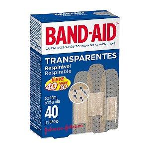 Band Aid Curativo Transparente - Leve 40 Unidades Pague 30 Unidades