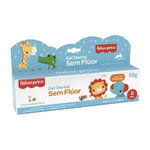 Gel Dental Fisher Price 0 a 3 Anos Sem Flúor Aroma De Frutinha 50gr