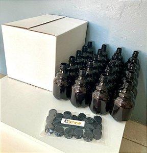 Pack Growler PET com 20 garrafas de 500 ml com tampa e com caixa reutilizável