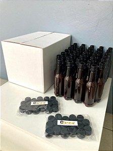 Pack Growler PET com 34 garrafas de 300 ml com tampa e caixa reutilizável