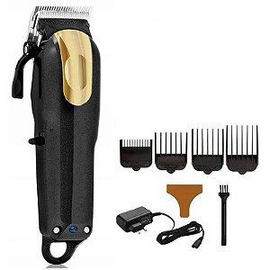 Máquina de Cortar Cabelo Shinon Black/Gold