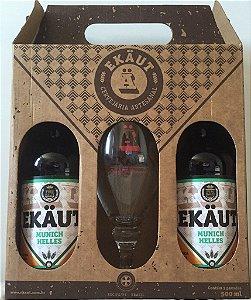 Kit Cerveja Ekäut - 2 Munich Helles + 1 Taça